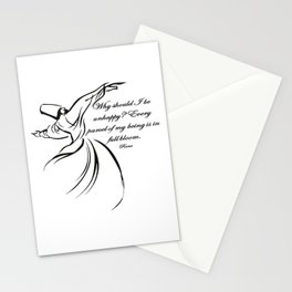 Every Parcel Of My Being Is In Full Bloom Rumi Quote Stationery Cards