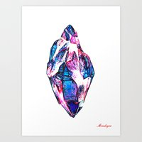 mineral Art Prints featuring Mineral by arnedayan