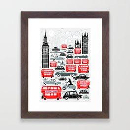 London Traffic Framed Art Print
