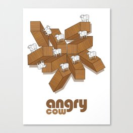 Sureal Angry Cow Canvas Print
