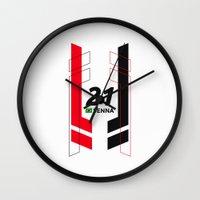 senna Wall Clocks featuring Formula E 2015/2016 - #21 Senna by MS80 Design
