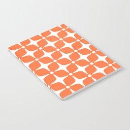 Mid Century Modern Star Pattern Orange 2 Notebook