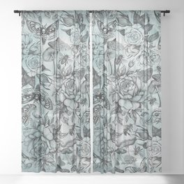 Botanical Pattern Sheer Curtain
