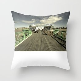 The pier at St Annes on sea Throw Pillow