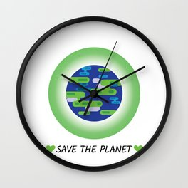 Save the Planet Earth  Wall Clock