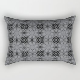 Sharkskin Floral Geometric Rectangular Pillow