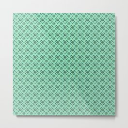 Green Brassicas Metal Print