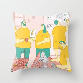 Superdoodle Throw Pillow