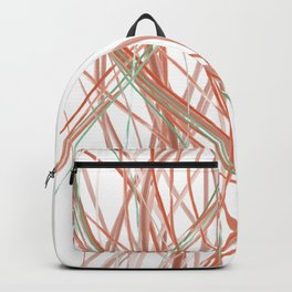 Enter the coral reef- abstract digital line painting Backpack