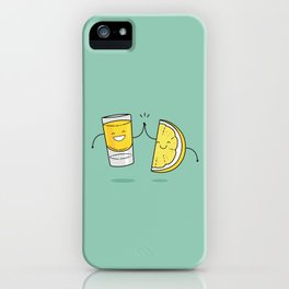Tequila and a slice, makes all things nice. iPhone Case