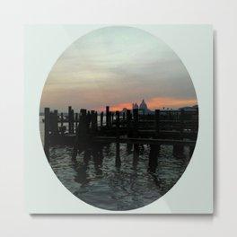 Winter Sunrise In Venice Metal Print