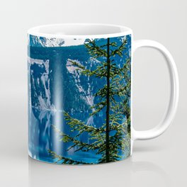 Crater Lake // Incredible National Park Views of the Dark Blue Waters Sky and Mountains through the Coffee Mug