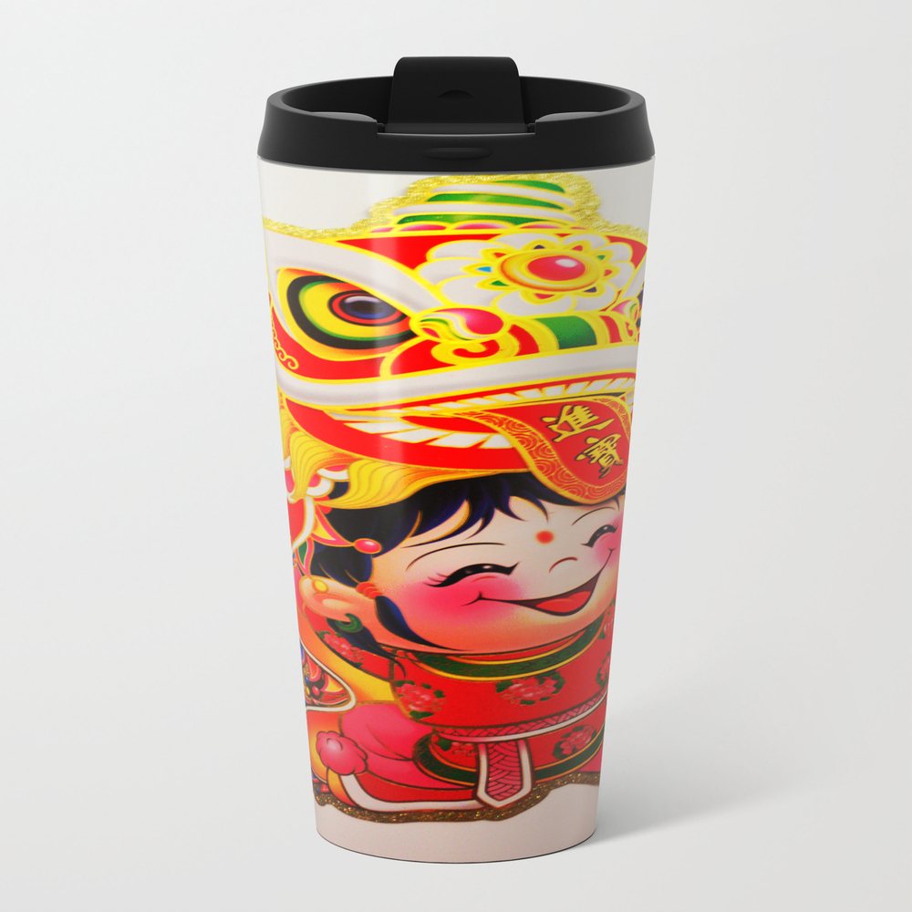 Chinese New Year #society6 #decor #buyart Metal Travel Mug by Mingmyaskovsky MTM998086