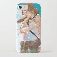 tomb raider iPhone & iPod Cases featuring Tomb Raider by Robbie Drew Dixon