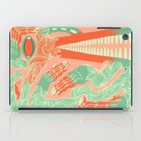 crocodile iPad Cases featuring Crocodile by Natalie Young
