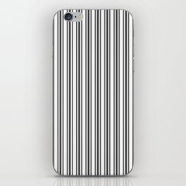 Large French Black and White Mattress Ticking Double Stripes iPhone Skin
