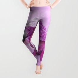 Wonderful unicorn in violet colors Leggings