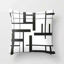 Lines #3 Throw Pillow