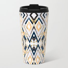 3dimensional marbled geometry pattern I Travel Mug