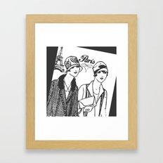 Flapper Girls in Paris Framed Art Print