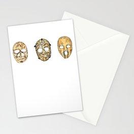 Fibreglass Masks 2 Stationery Cards