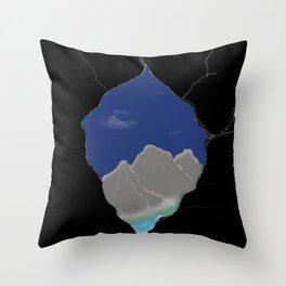 Peek a peak Throw Pillow