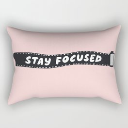 Stay Focused 35mm Camera Film Rectangular Pillow