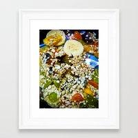 fruits Framed Art Prints featuring Fruits by Mauricio Santana