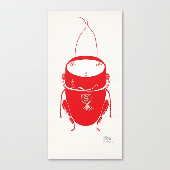 Red cricket Canvas Print