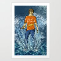percy jackson Art Prints featuring Percy Jackson by Ghost Filament