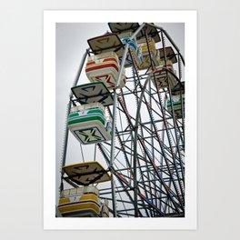 Ferris Wheel (Color) Art Print