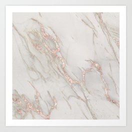 Marble Rose Gold Blush Pink Metallic by Nature Magick Kunstdrucke