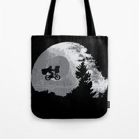 et Tote Bags featuring ET Wars by Don Calamari