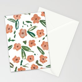 Live Simply Floral Pattern Stationery Cards