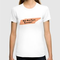 tennessee T-shirts featuring Hello Beautiful Tennessee by Allyson Johnson