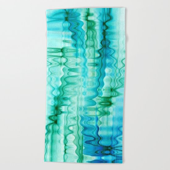Water Ripples Abstract Beach Towel