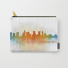 Columbus Ohio, City Skyline, watercolor  Cityscape Hq v3 Carry-All Pouch