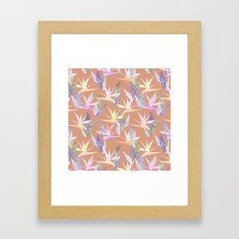 Birdie Tropical Blush Framed Art Print