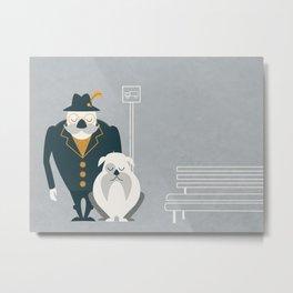 Mr. Mustachio Metal Print