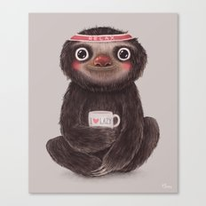 Sloth I♥lazy Canvas Print