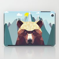 mountain iPad Cases featuring Bear Mountain  by Davies Babies