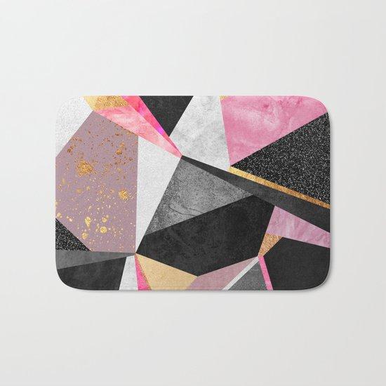 Geometry / Pink Bath Mat