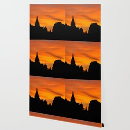 London Sunset in sillouette bywhacky Wallpaper