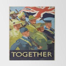 Vintage poster - Together Throw Blanket