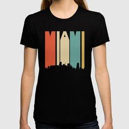 Retro 1970's Style Miami Florida Skyline T-shirt