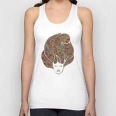 Dreaming with flowers Unisex Tank Top