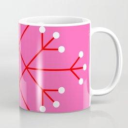 Mod Snowflake Pink Coffee Mug