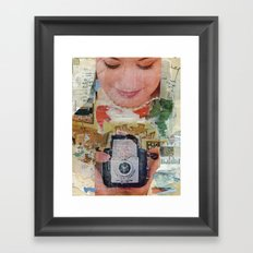 Madonna with Camera Framed Art Print