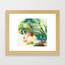 DIANA - PRINCESS OF WALES - watercolor portrait.5 Framed Art Print