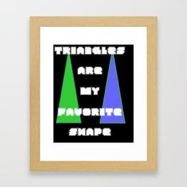 Tri Angle Framed Art Print